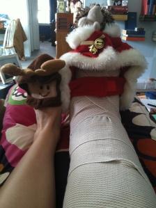 Christmas feet on drugs