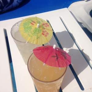 Wouldn't be a beach vacation without the little umbrellas.  Cheers!